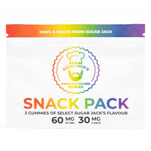 Sugar Jack's 60mg CBD Snack Pack